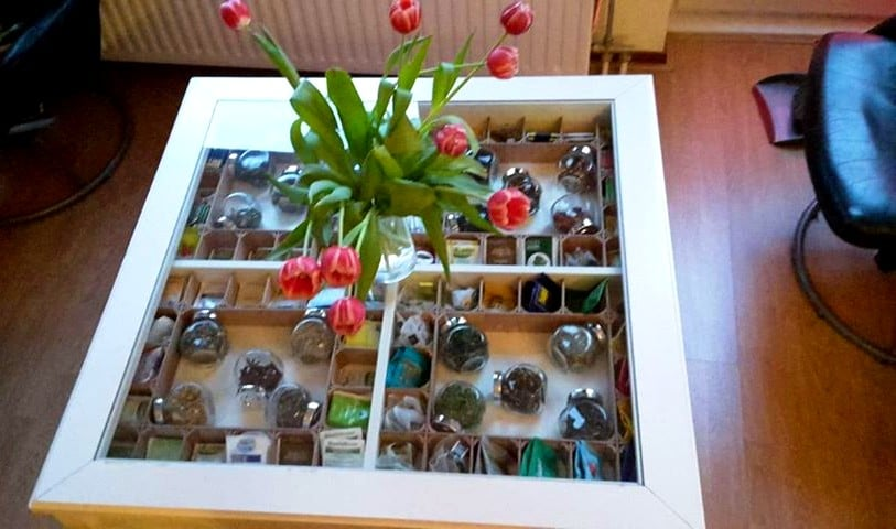 IKEA LIATORP tea table with dividers