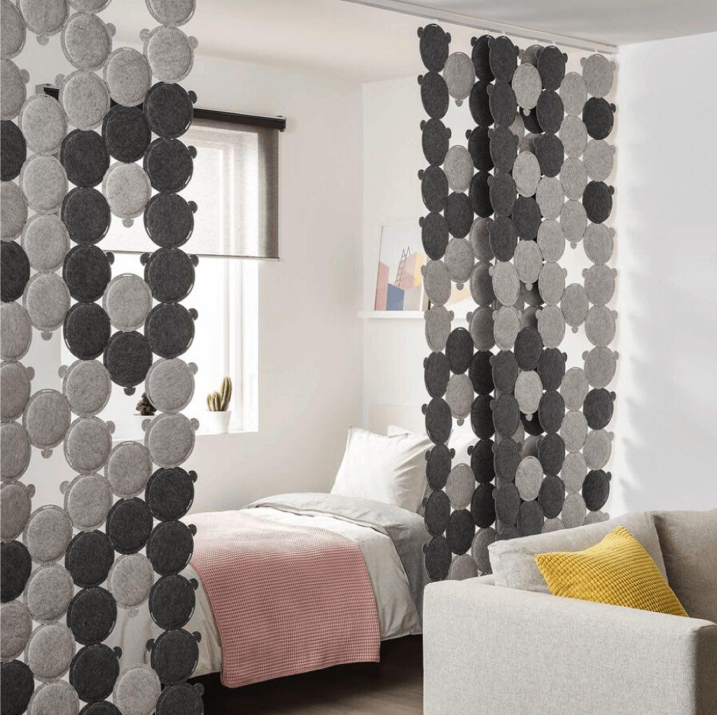 ODDLAUG sound dampening panels - cozy bedroom ideas