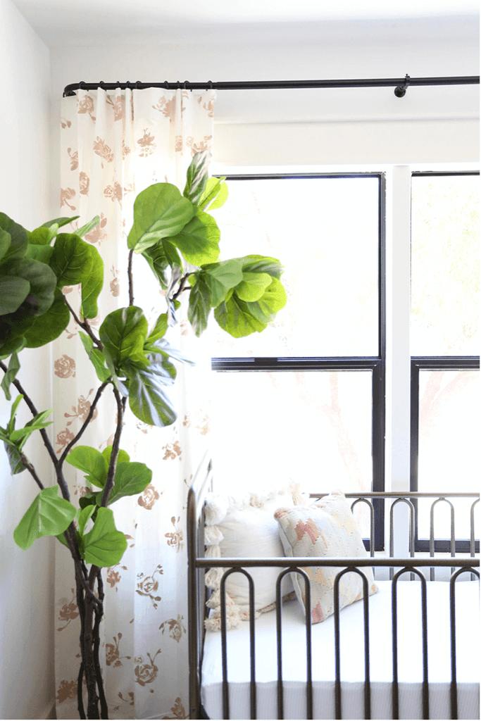 painted IKEA RITVA curtains