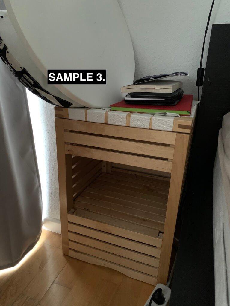 IKEA MOLGER bedside table /  printer stand