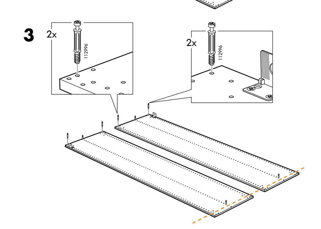 How to cut PAX frame to fit ceiling coving