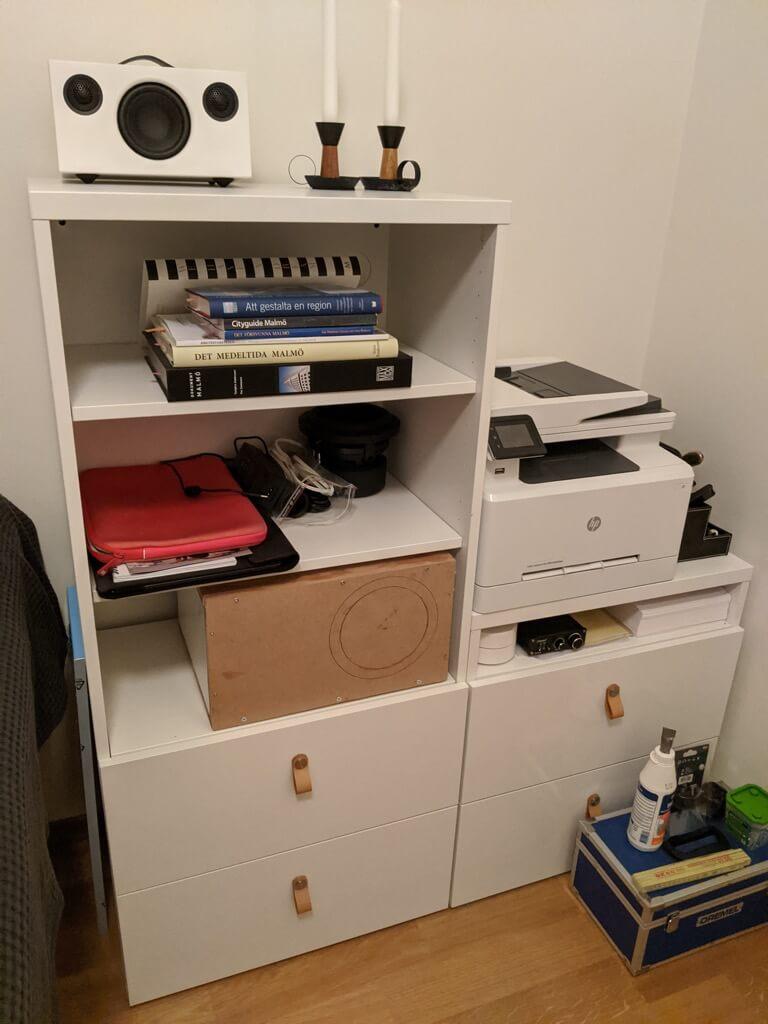 MDS built-in speaker shelf