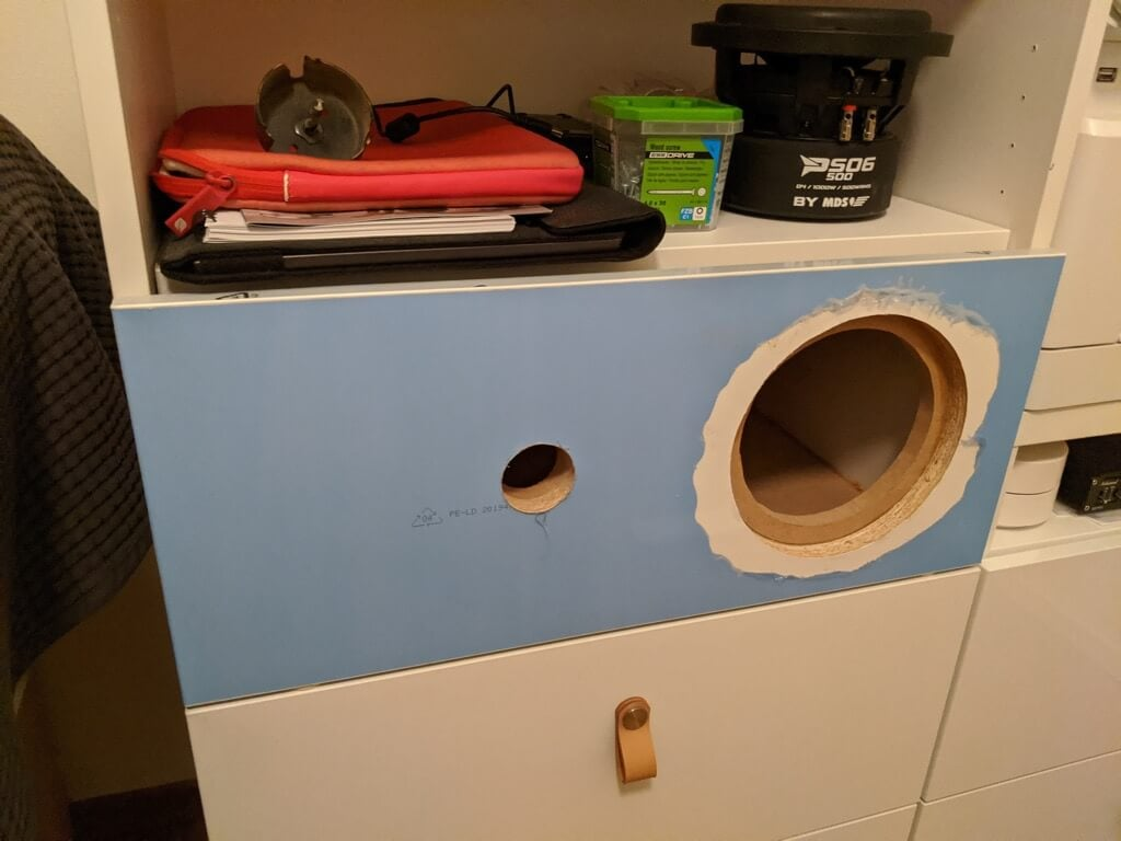 adding the drawer front