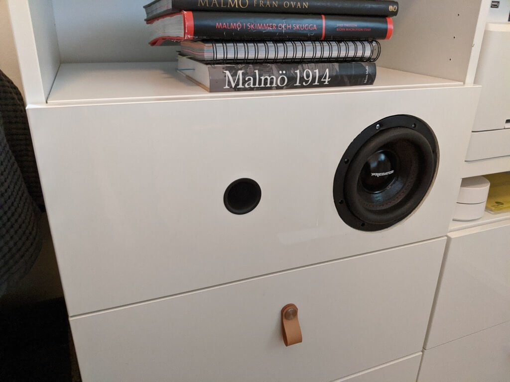 IKEA feat. MDS built-in speaker shelf