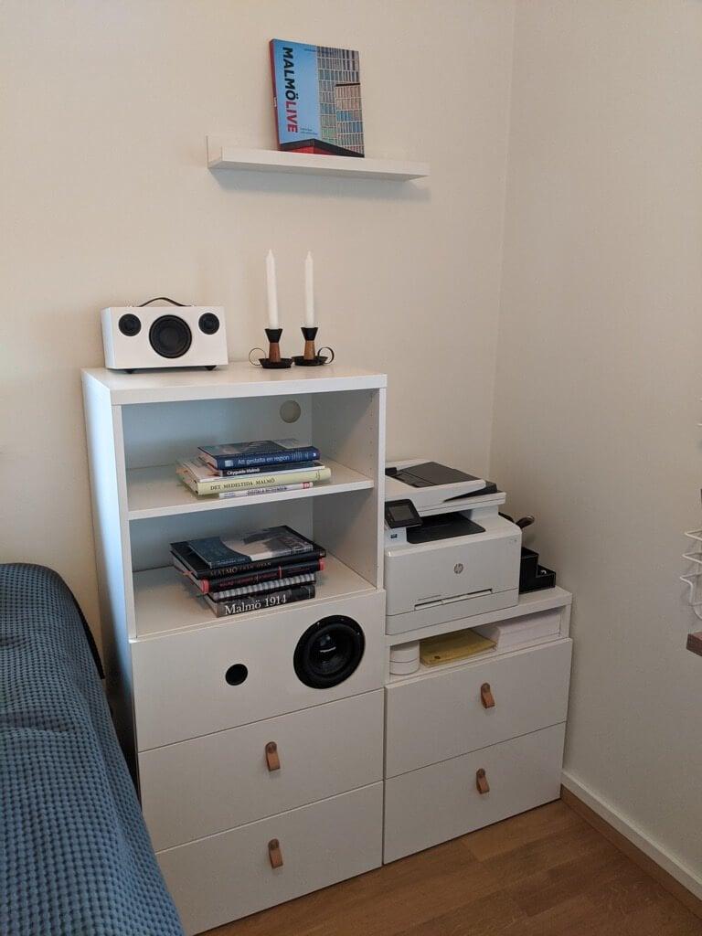 IKEA feat. MDS built-in speaker shelf