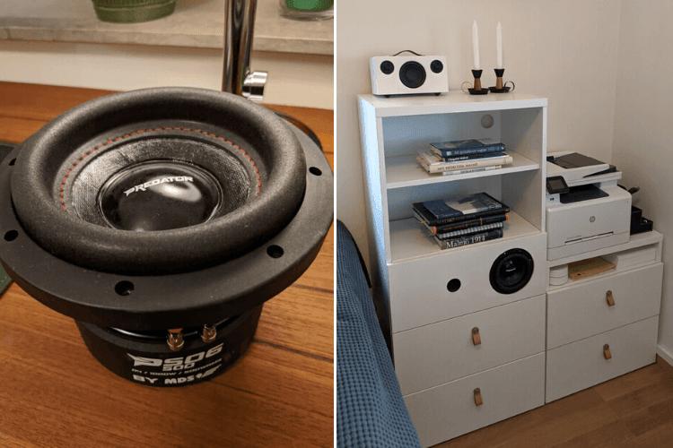 built-in speaker shelf ikea besta