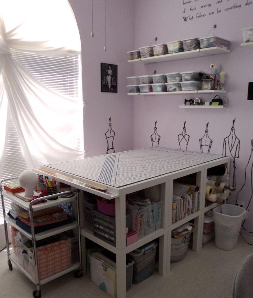 Craft room ideas - LACK crafting table