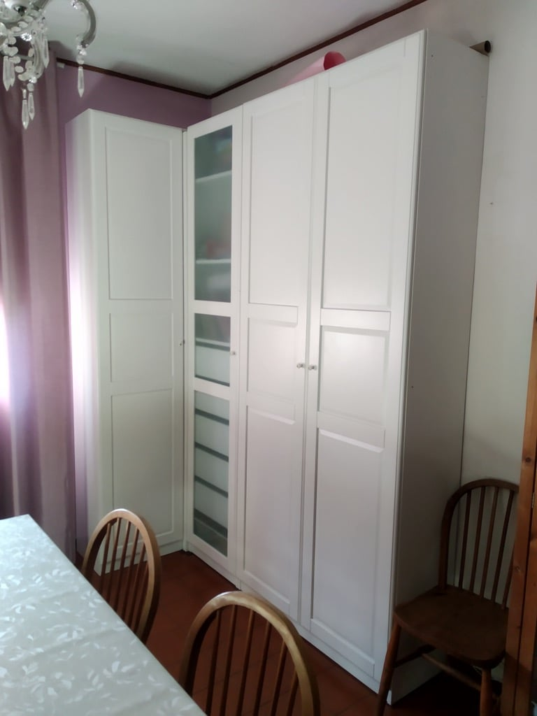 IKEA PAX corner wardrobe 35mm hack