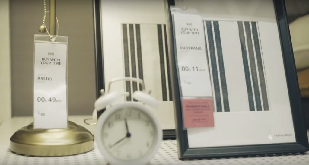 """IKEA Dubai campaign """"Buy with your time"""""""