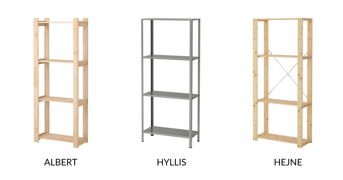 Stacking IKEA shelving