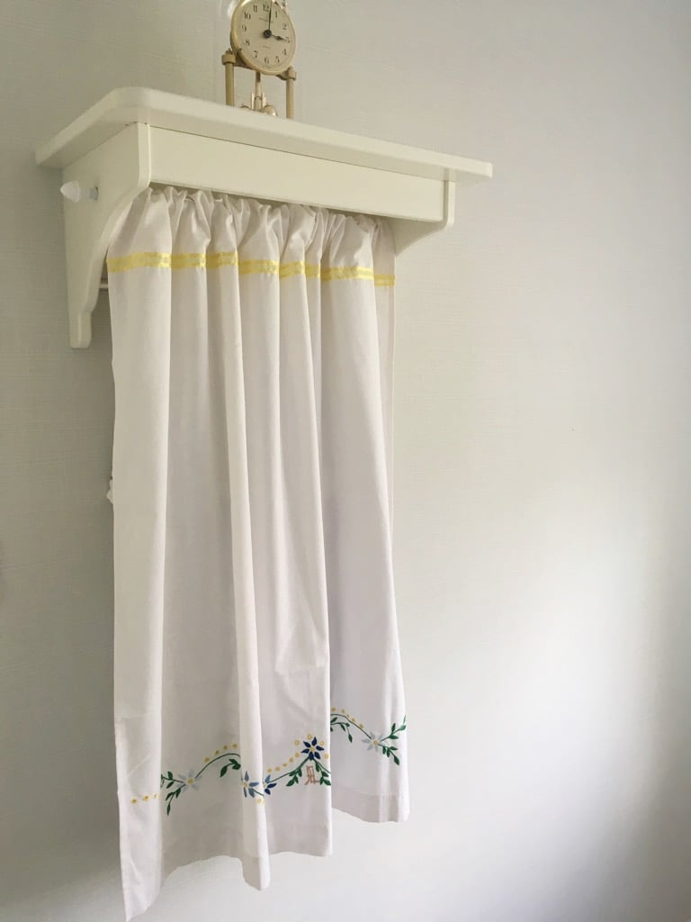 Swedish style tea towel rack