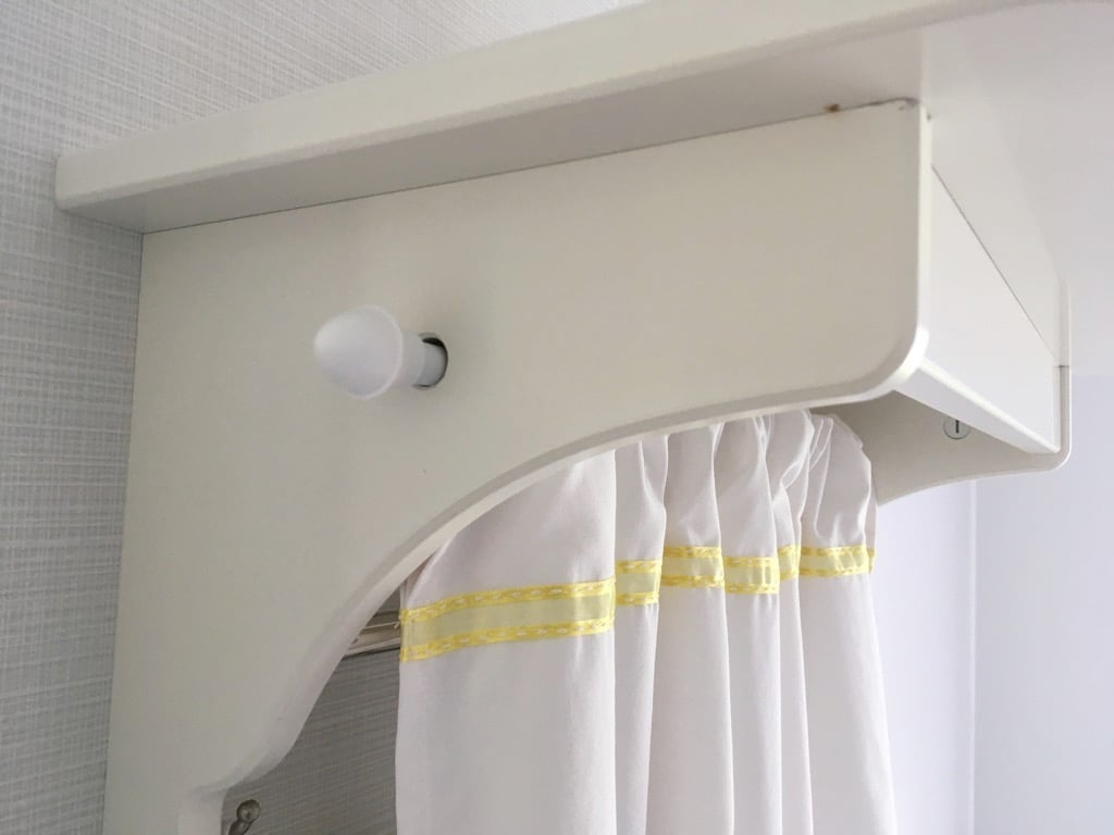 Swedish style tea towel rack