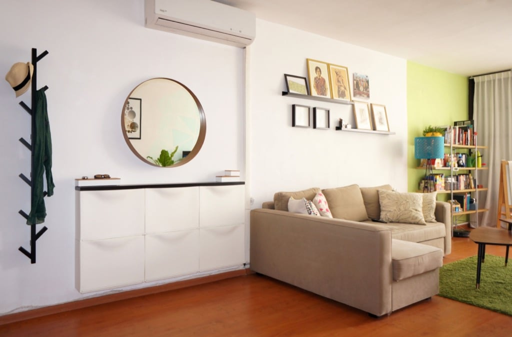 TRONES wall mounted shoe cabinet - living room