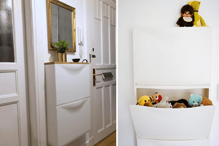 wall mounted shoe cabinet trones
