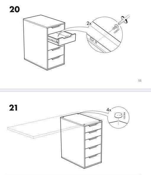 alex drawer unit step 21