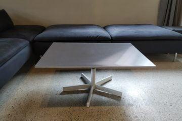 rotating coffee table ikea hack