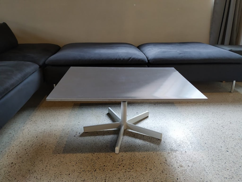 rotating coffee table ikea hack