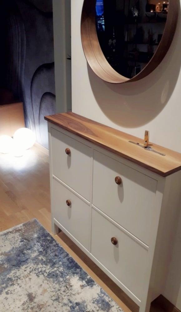 IKEA HEMNES with wood plank