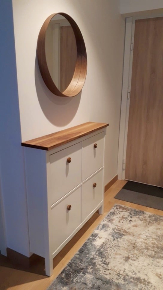 HEMNES with wood plank