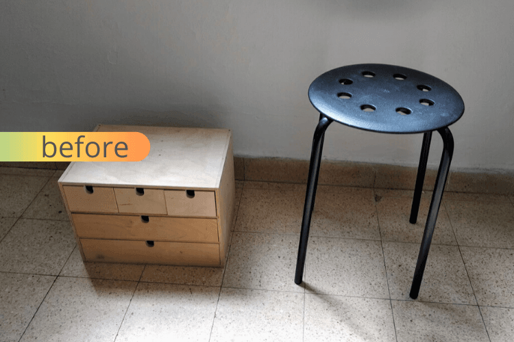 ikea side table with drawers