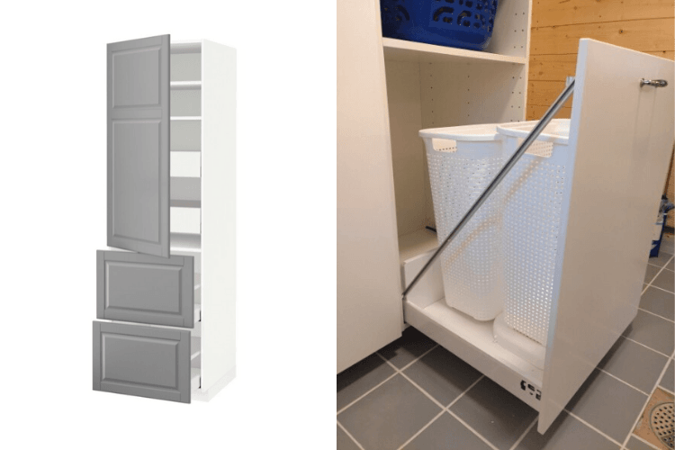 Make A Tall And Deep Laundry Drawer In, Laundry Basket Cabinet