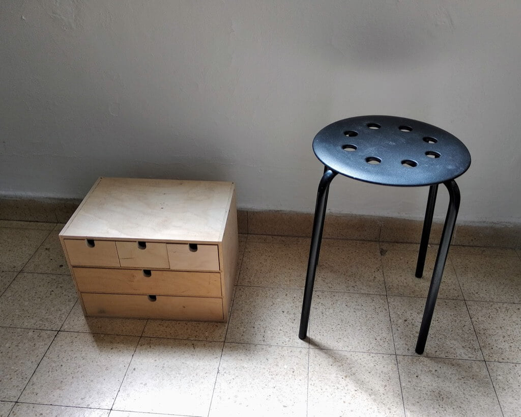 Two IKEA faves become a side table with drawers