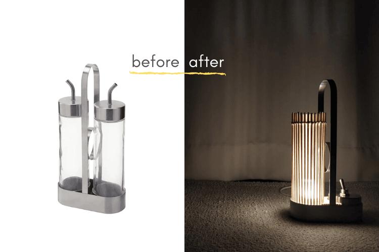 ÖRTFYLLD small accent lamp IKEA hack