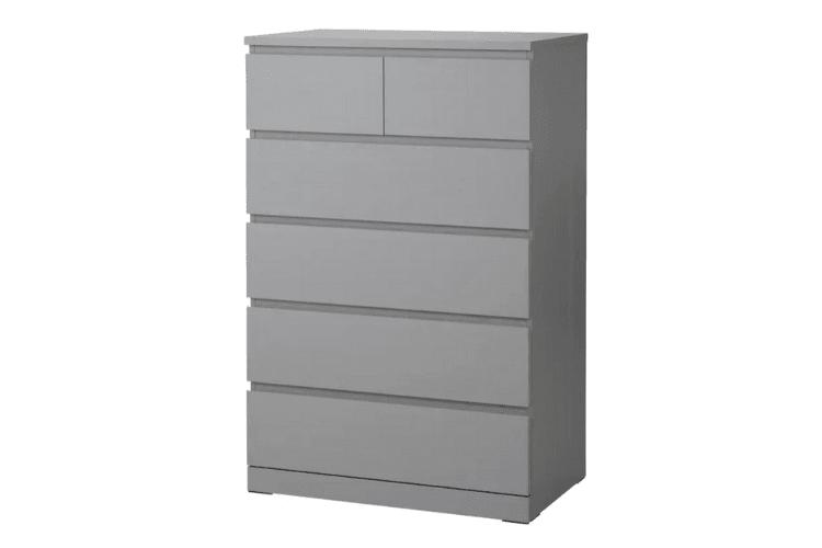 MALM 6-drawer dresser