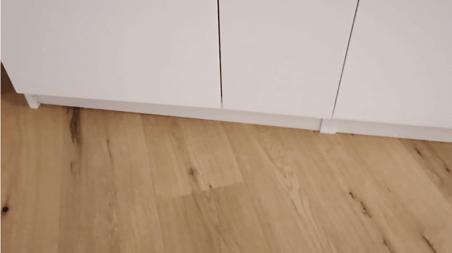 PAX toe kick installed wrongly