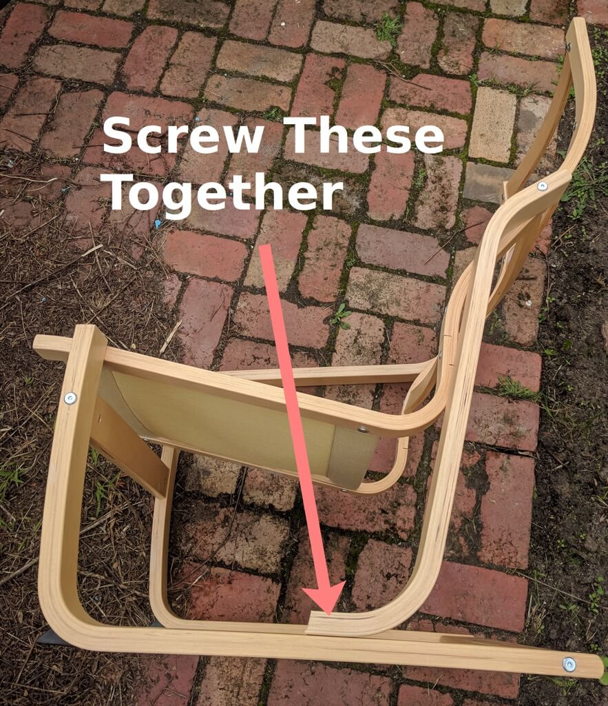 How to remove arms from IKEA POANG armchair