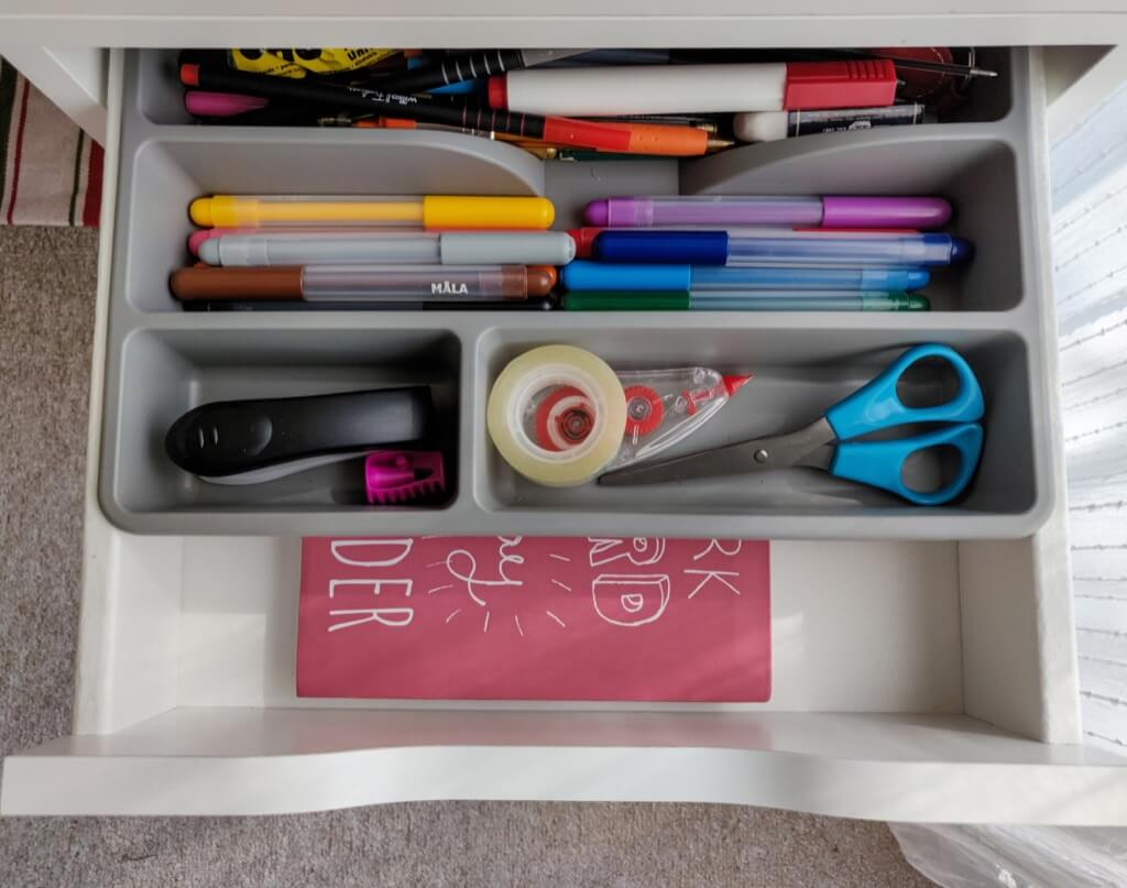 organise IKEA ALEX drawers