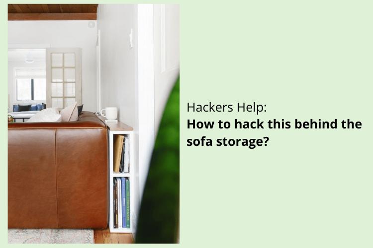 behind sofa storage hack