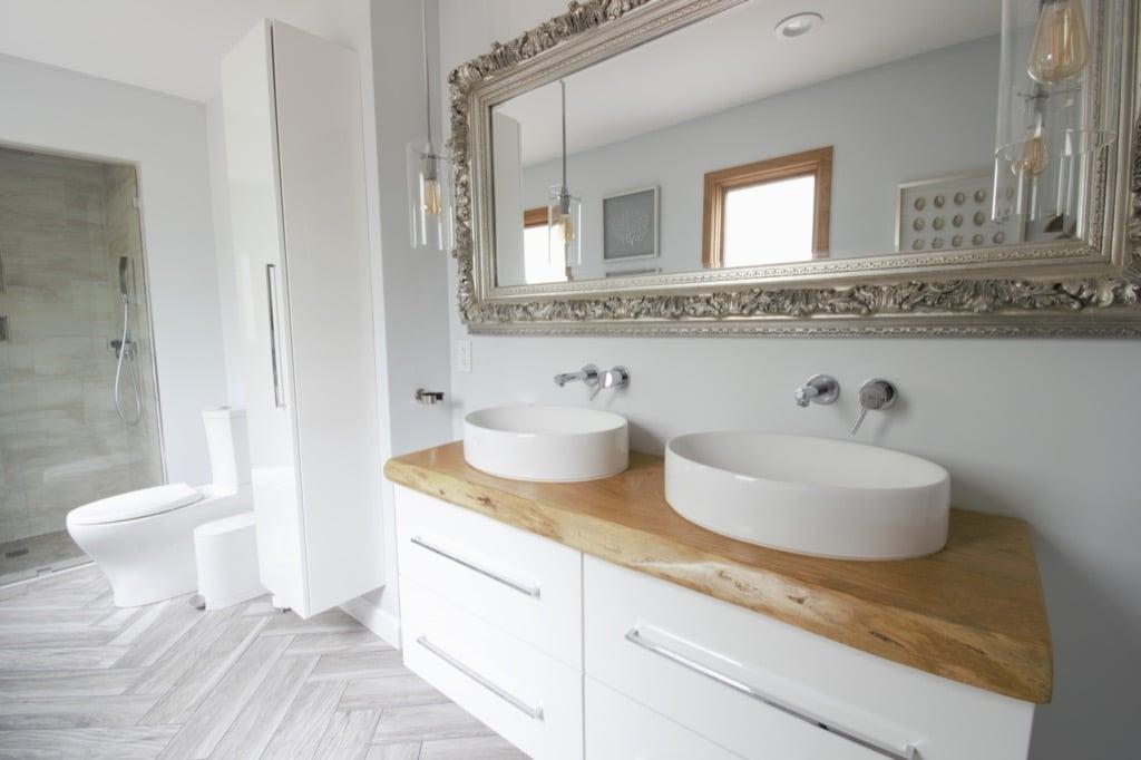 Ikea Bathroom Vanity Gets A Luxurious Live Edge Upgrade Ikea Hackers
