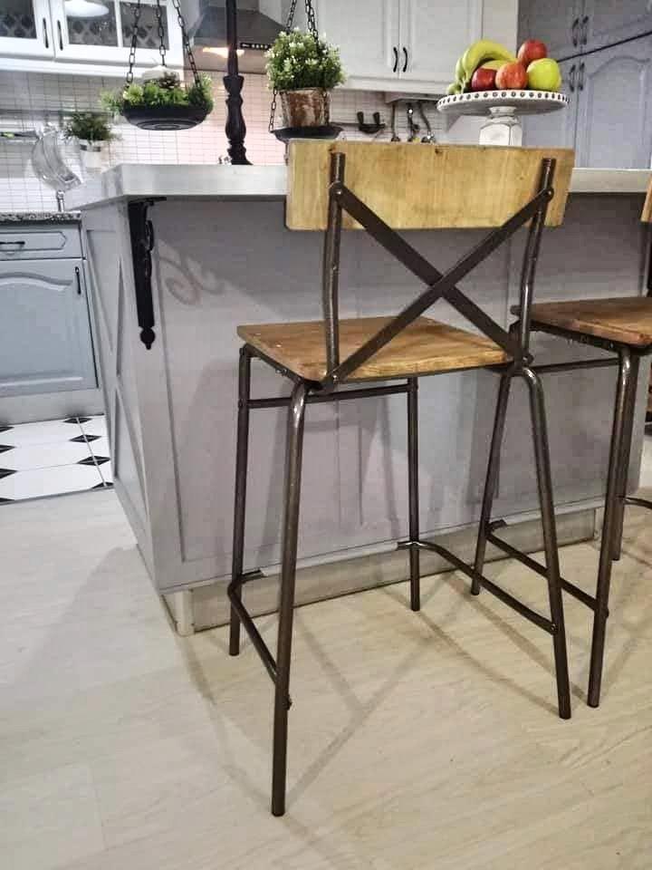 IKEA STIG to farmhouse style bar stool