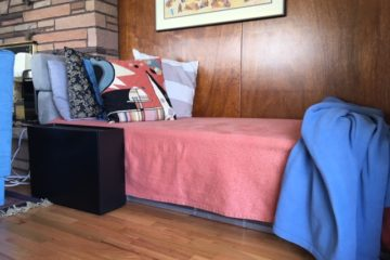 temporary DIY daybed