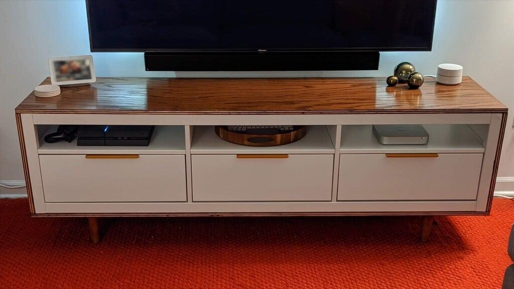 MCM media console IKEA HEMNES hack
