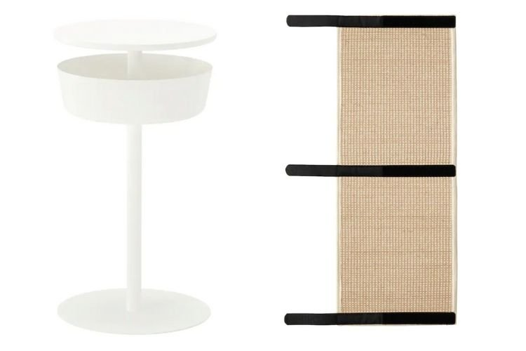LIERSKOGEN nightstand and LURVIG scratch mat