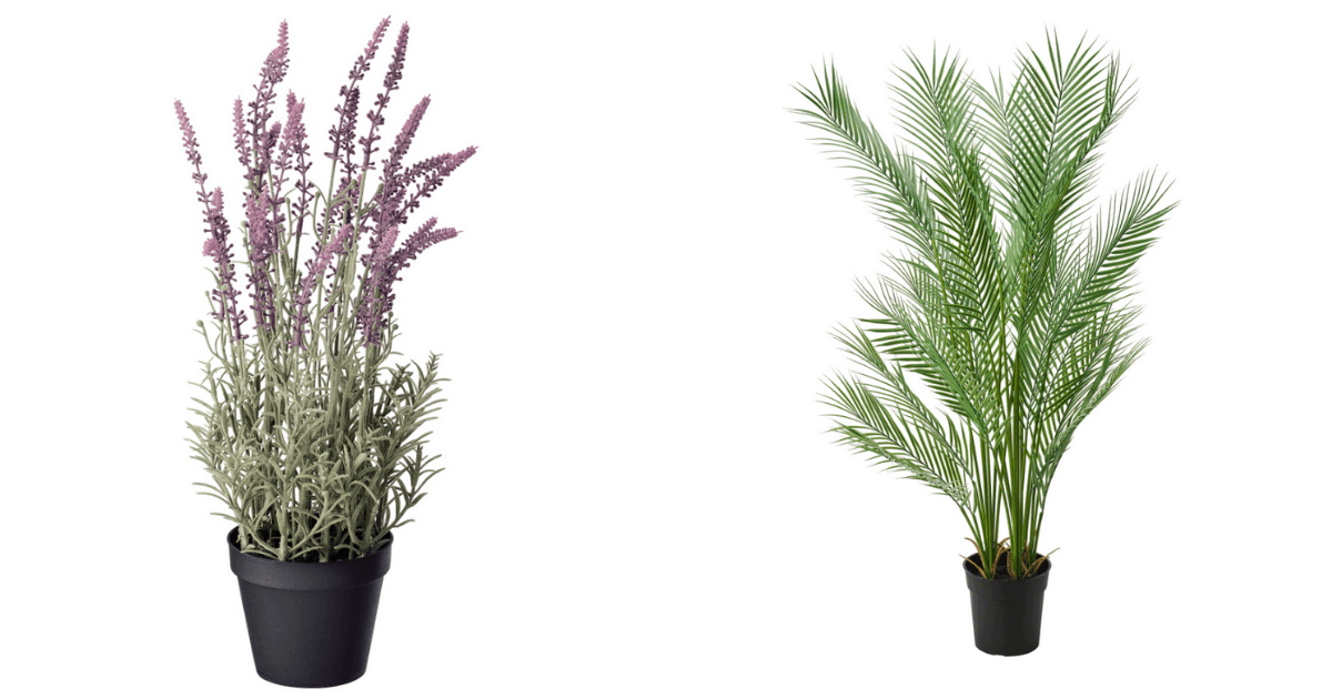 Lavender and Palm IKEA artificial plant