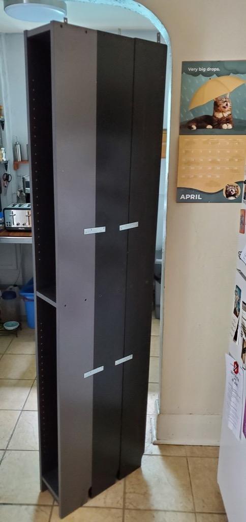 sheet pan storage rack - IKEA GNEDBY hack