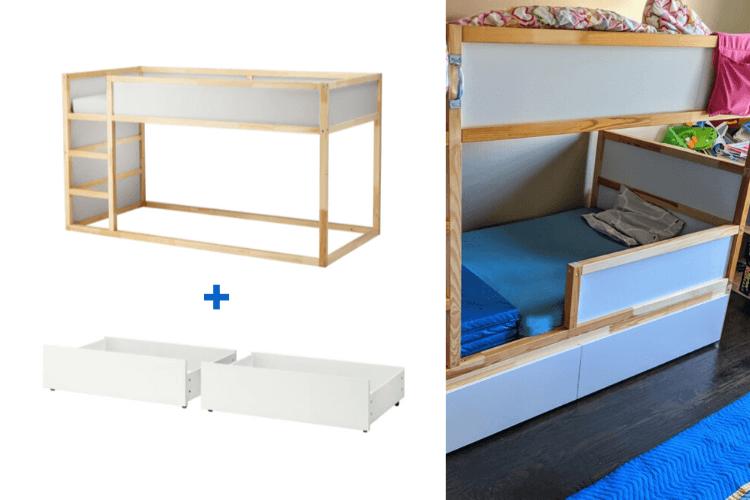 kura bed safety rail