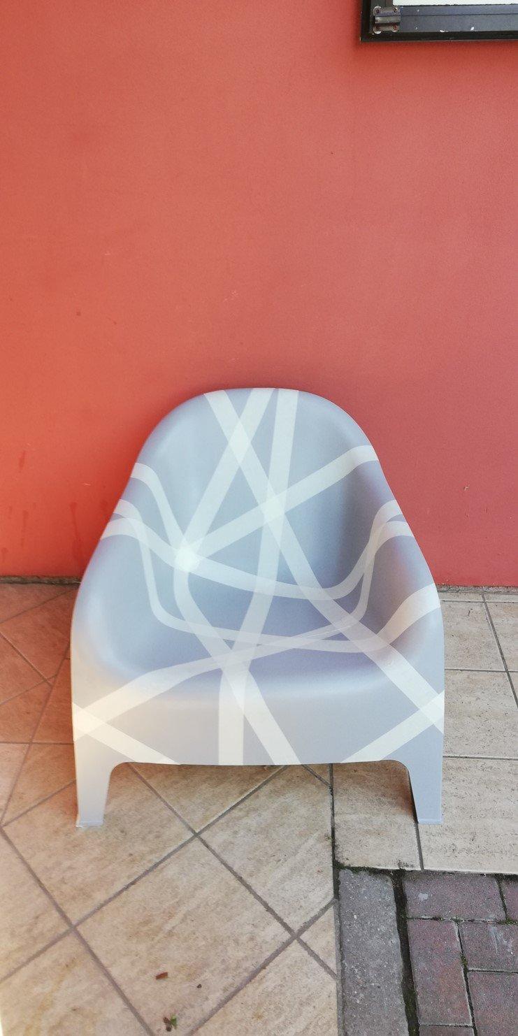 Painting worn IKEA SKARPO outdoor armchair