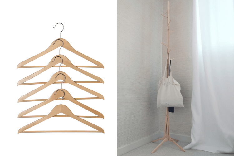 wooden coat stand ikea