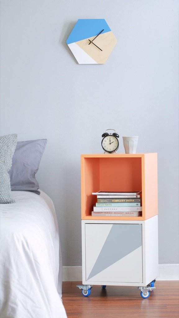 rolling bedside table