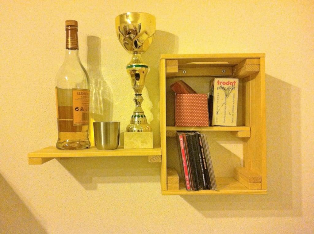 IKEA KNAGGLIG box wall shelf
