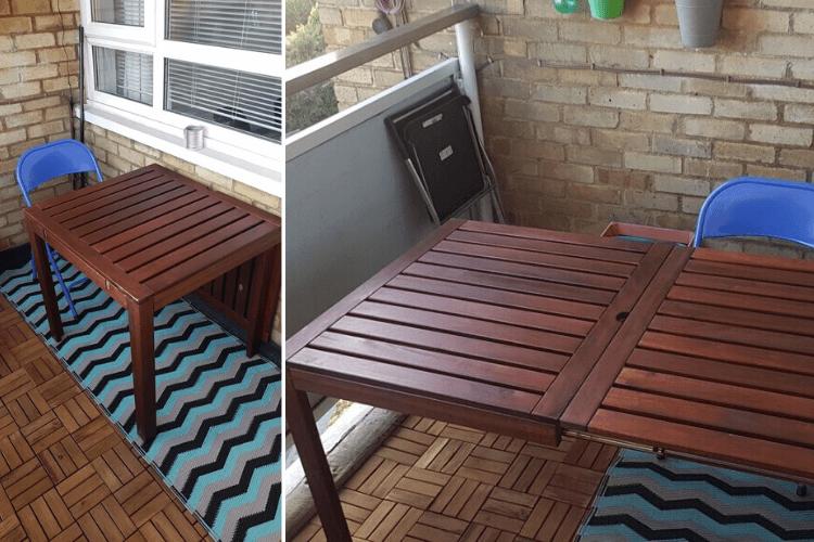 applaro balcony table