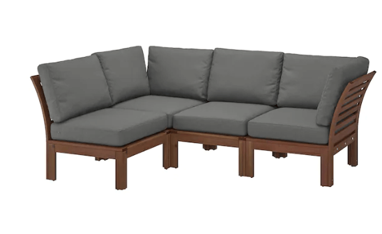ÄPPLARÖ sofa gets new arm and it extends