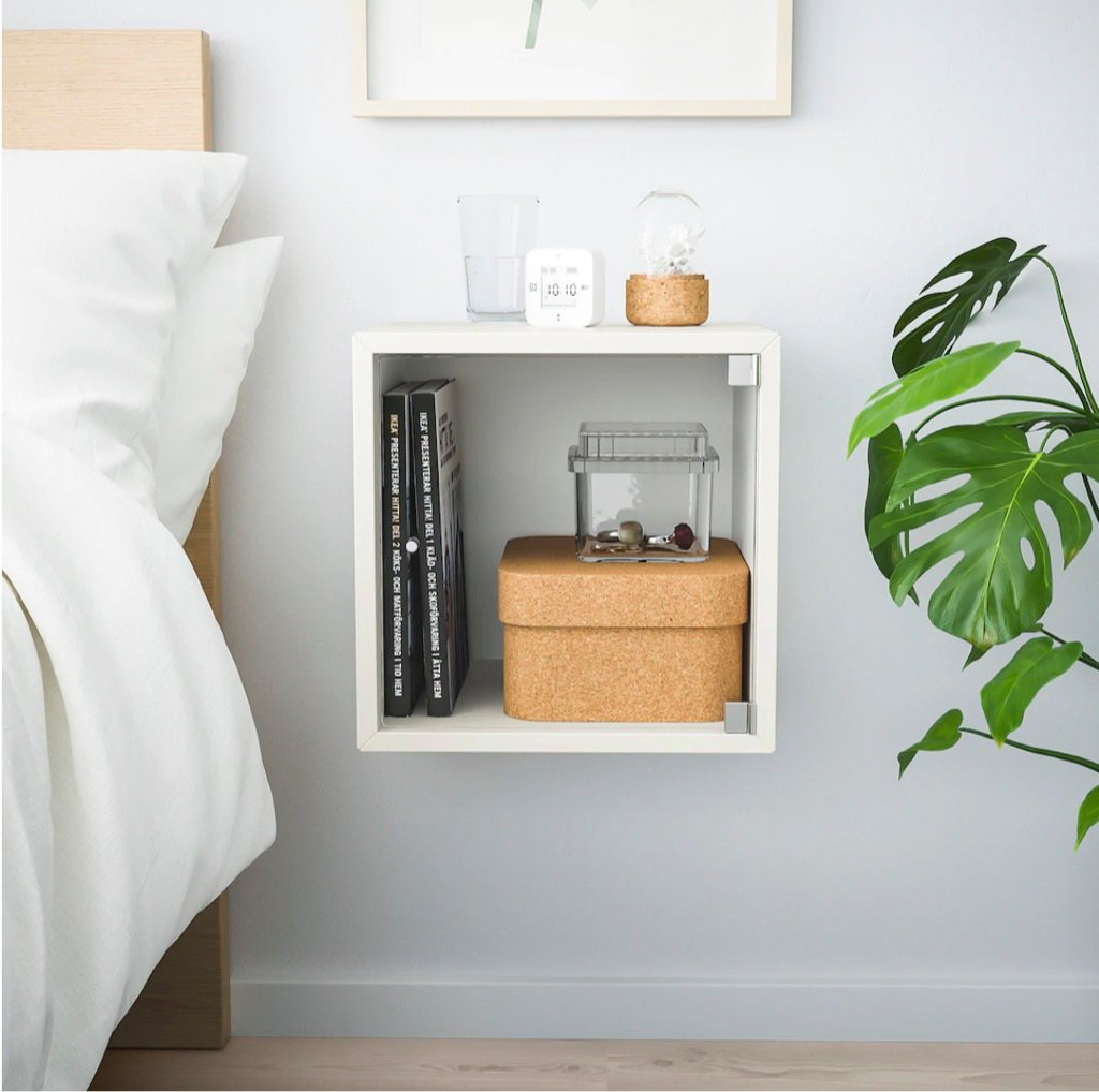 4 Ways To Use The Eket Cube As A Bedroom Nightstand Ikea Hackers