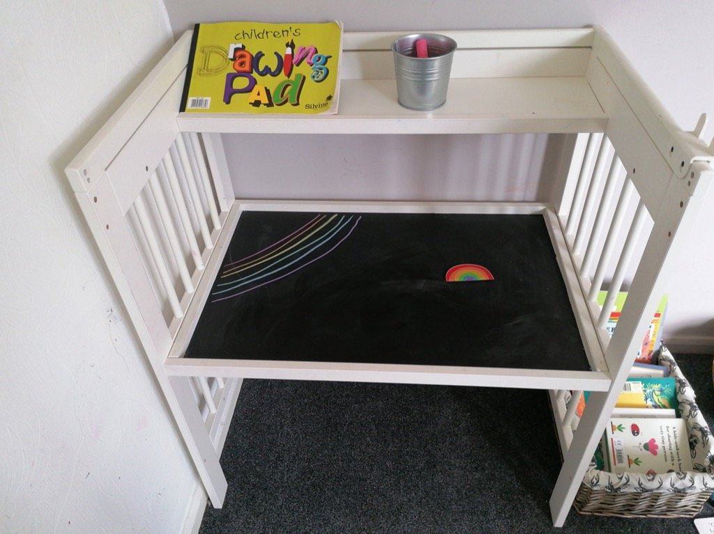kids' art desk from IKEA GULLIVER changing table