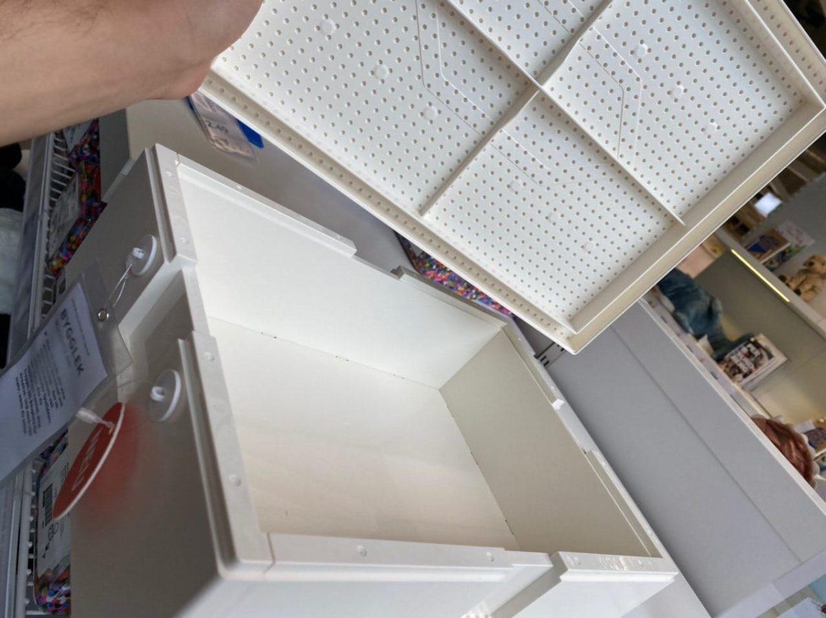 inside of large box