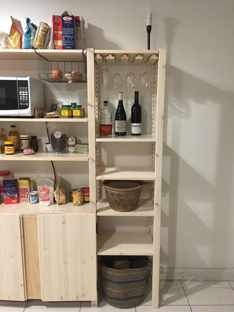 DIY wooden wine glass rack